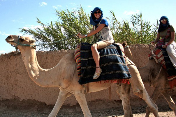 camel ride in Marrakech Morocco