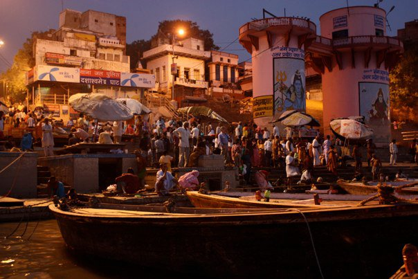 Before Sunrise on Ganges River Varanasi India