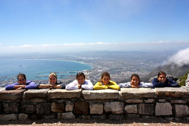girls at table mountain