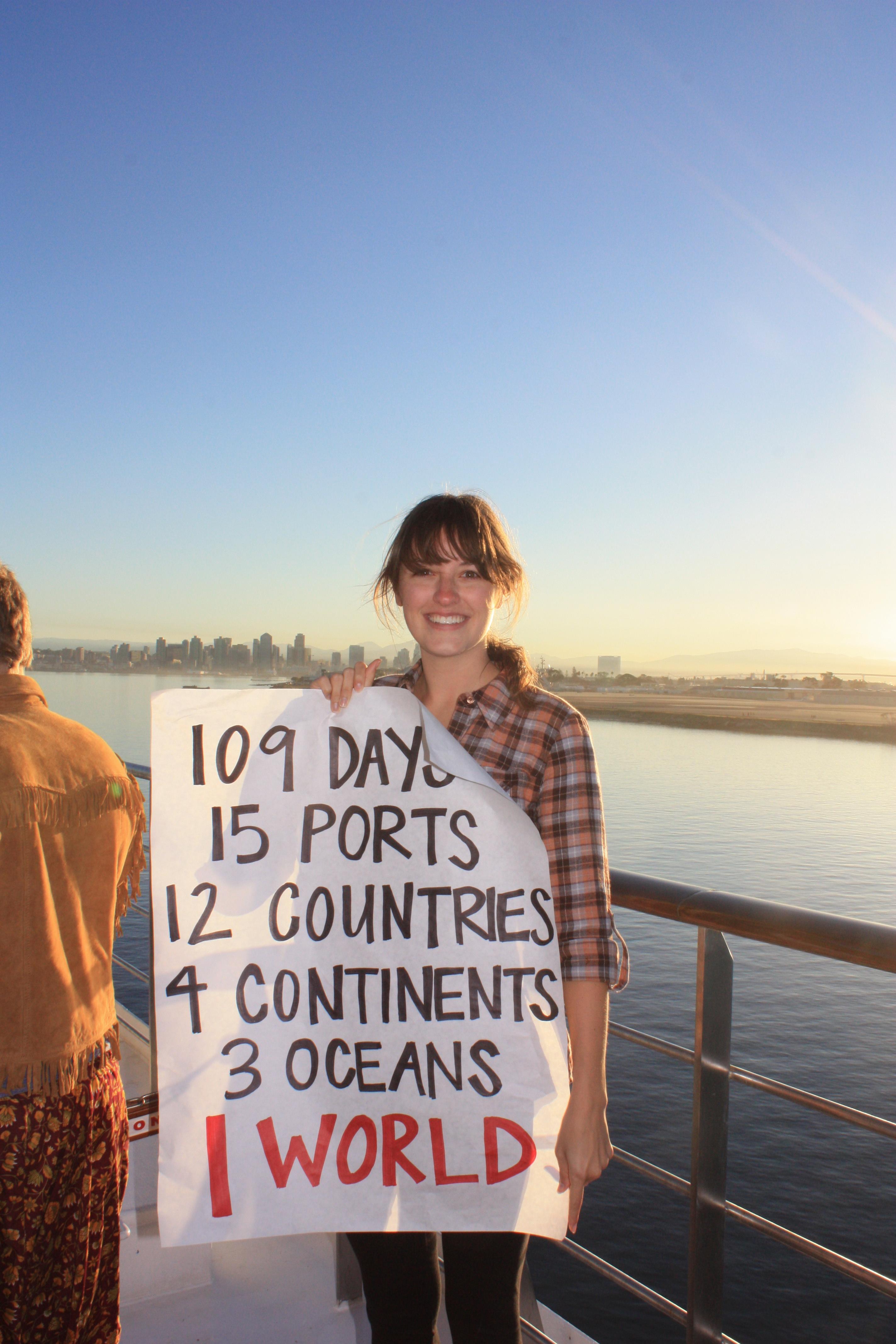 Student at End of Semester at Sea 2011