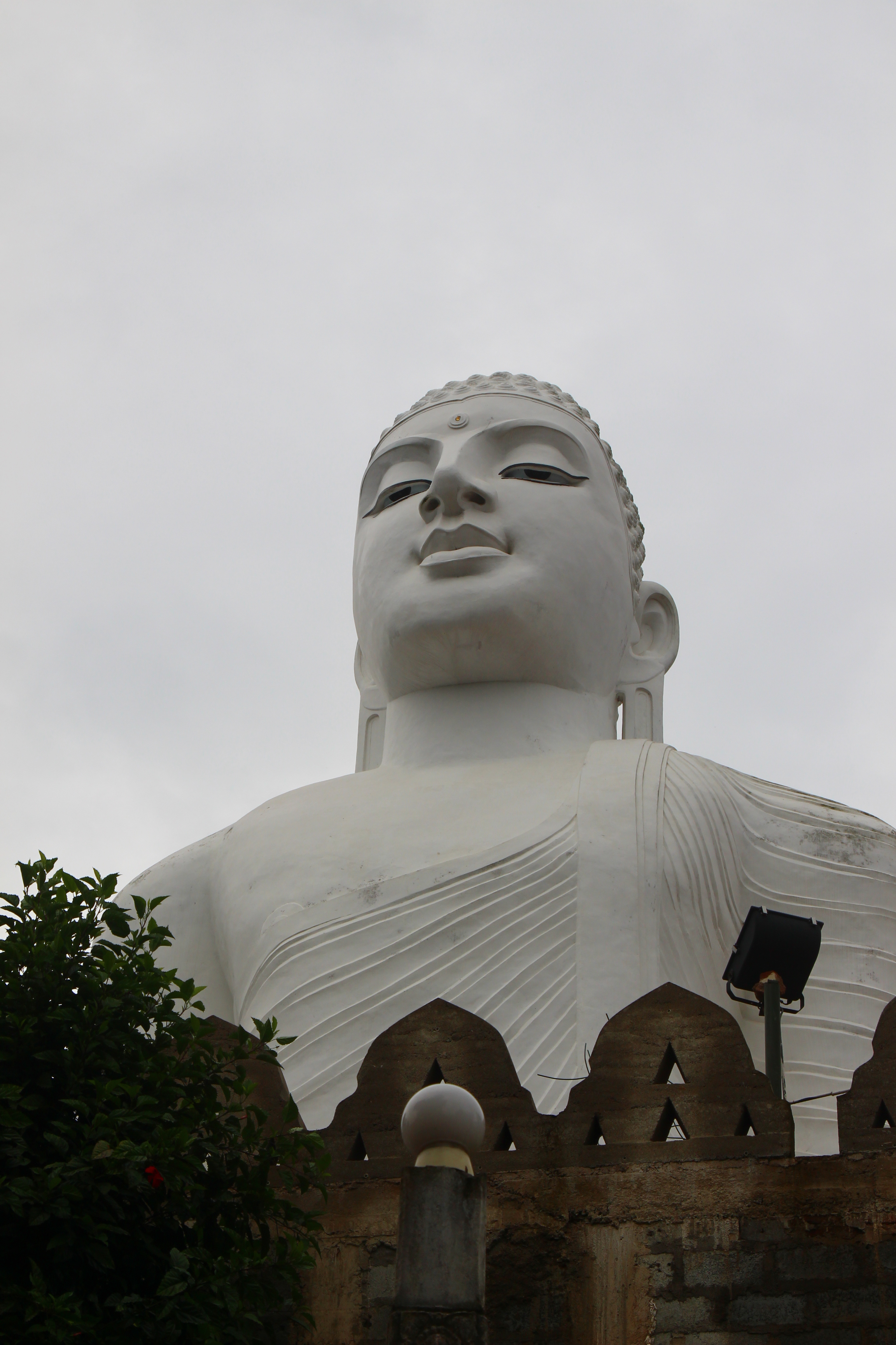 Large White Buddha Statue Kandy Sri Lanka