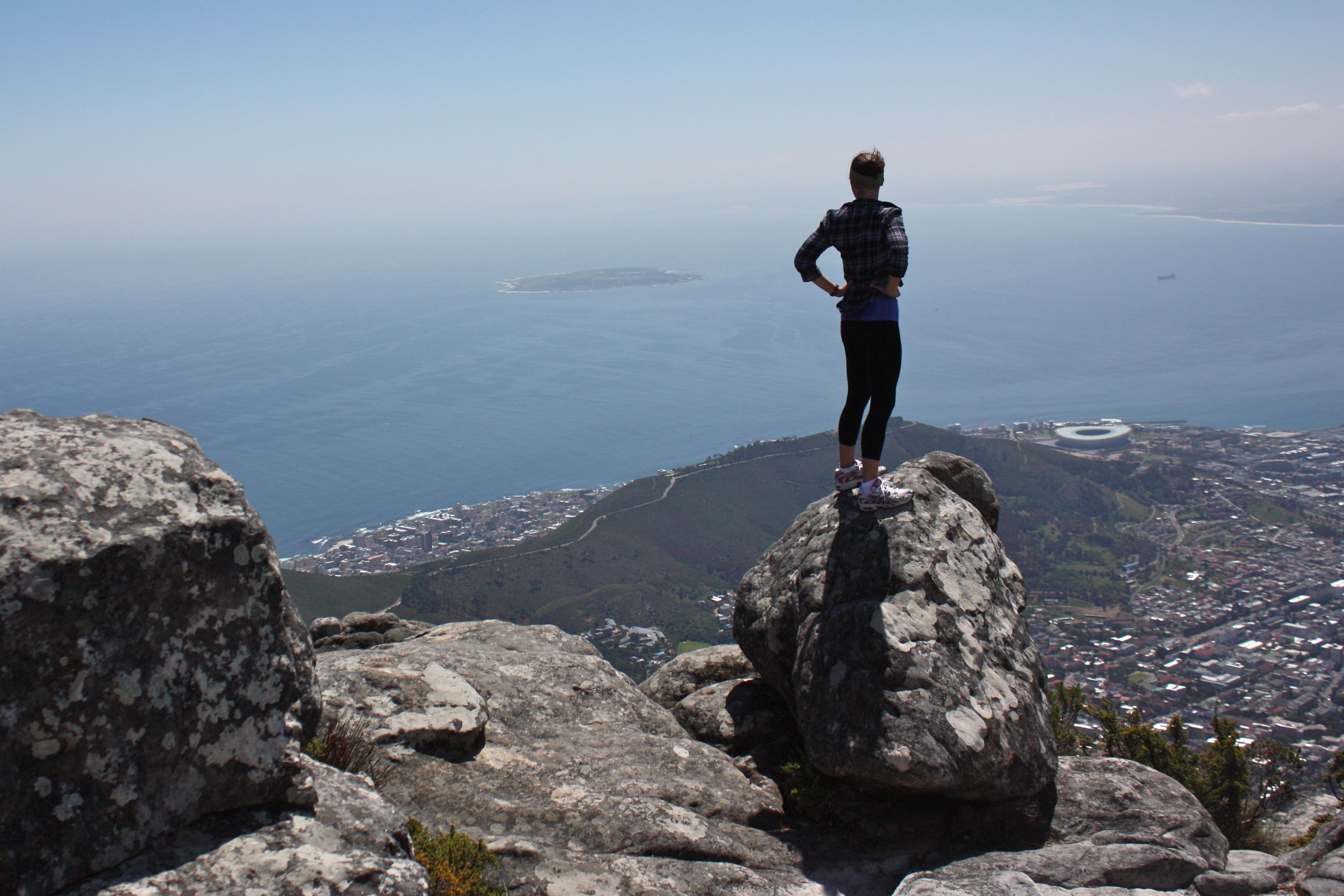 Woman Overlooking Cape Town South Africa