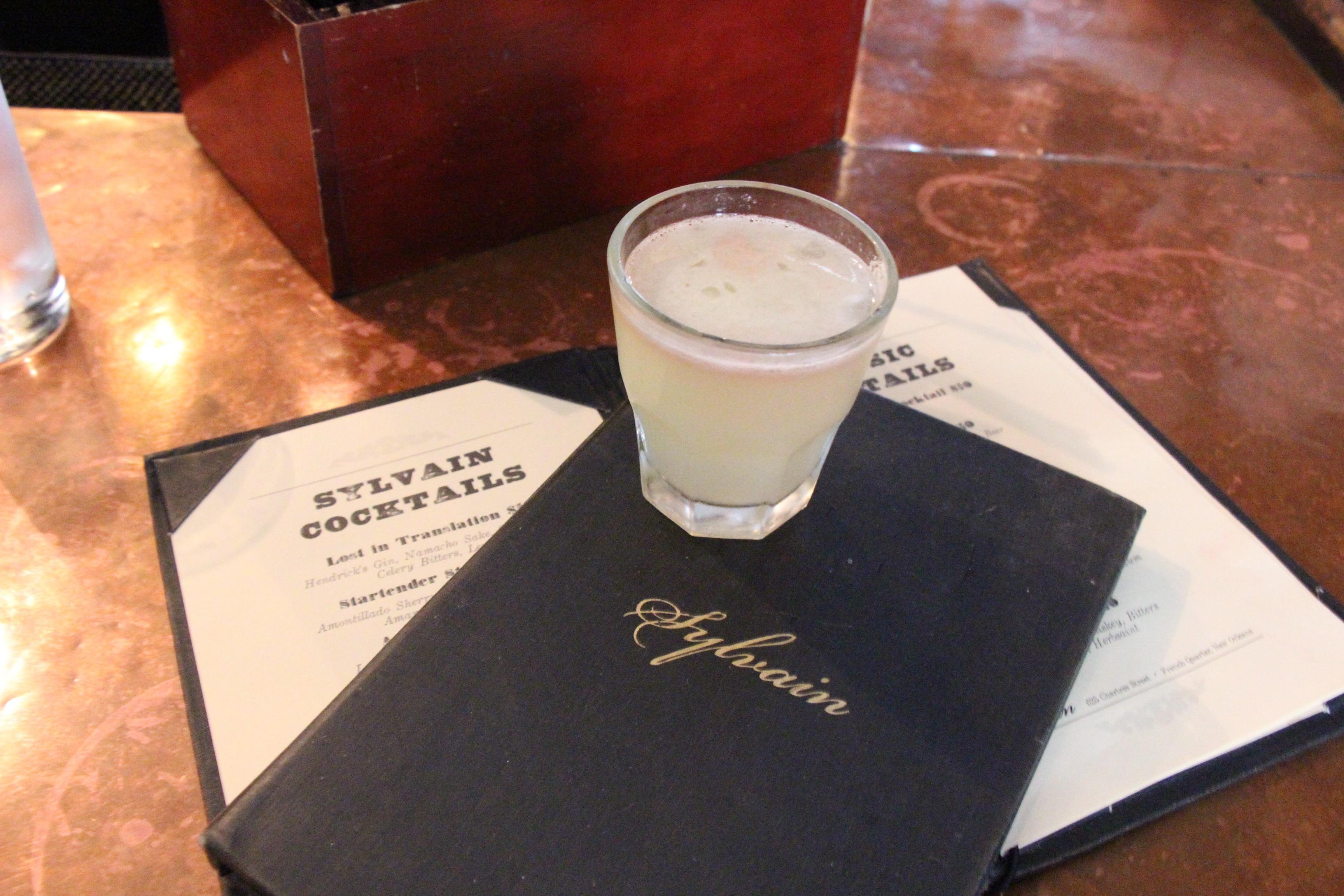 Cocktail at Sylvian Bar NOLA New Orleans