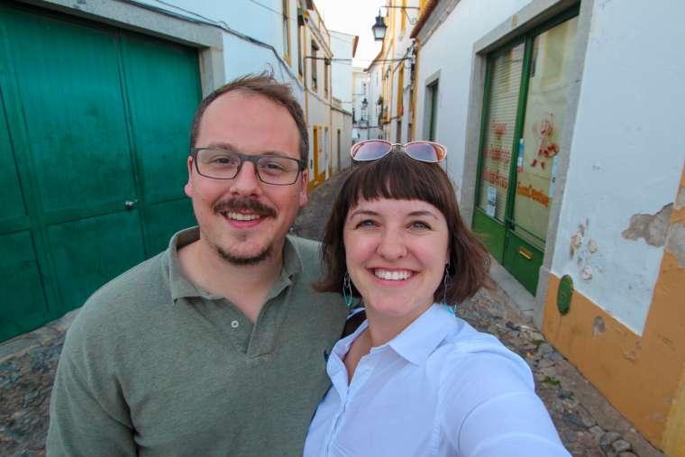 Evora Portugal Selfie