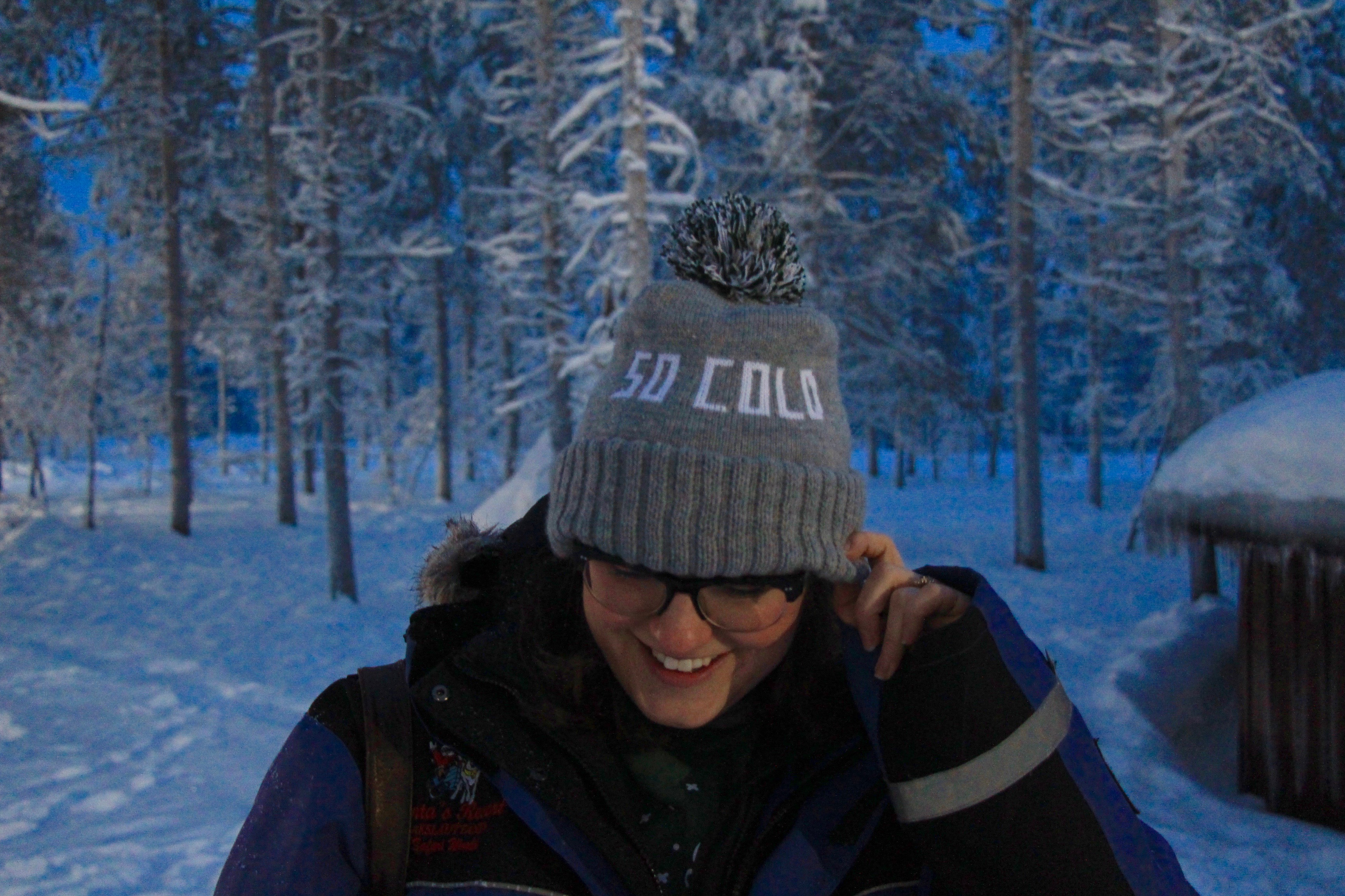 megan hat in lapland finland
