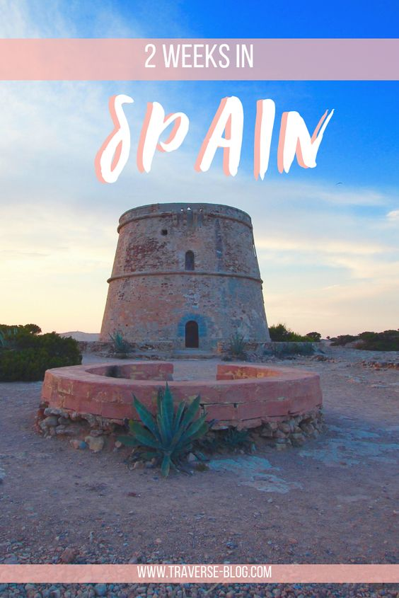 2 weeks itinerary in Spain Pinterest Image