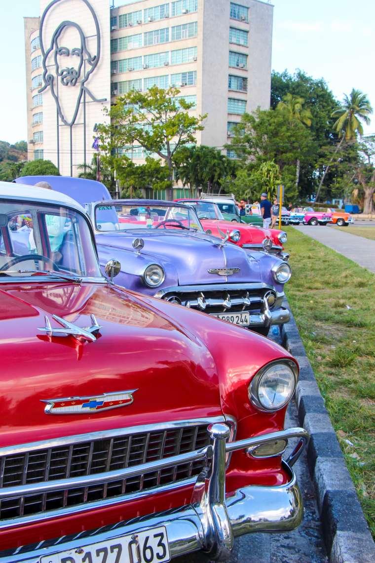 Colorful Vintage Cars Havana Cuba