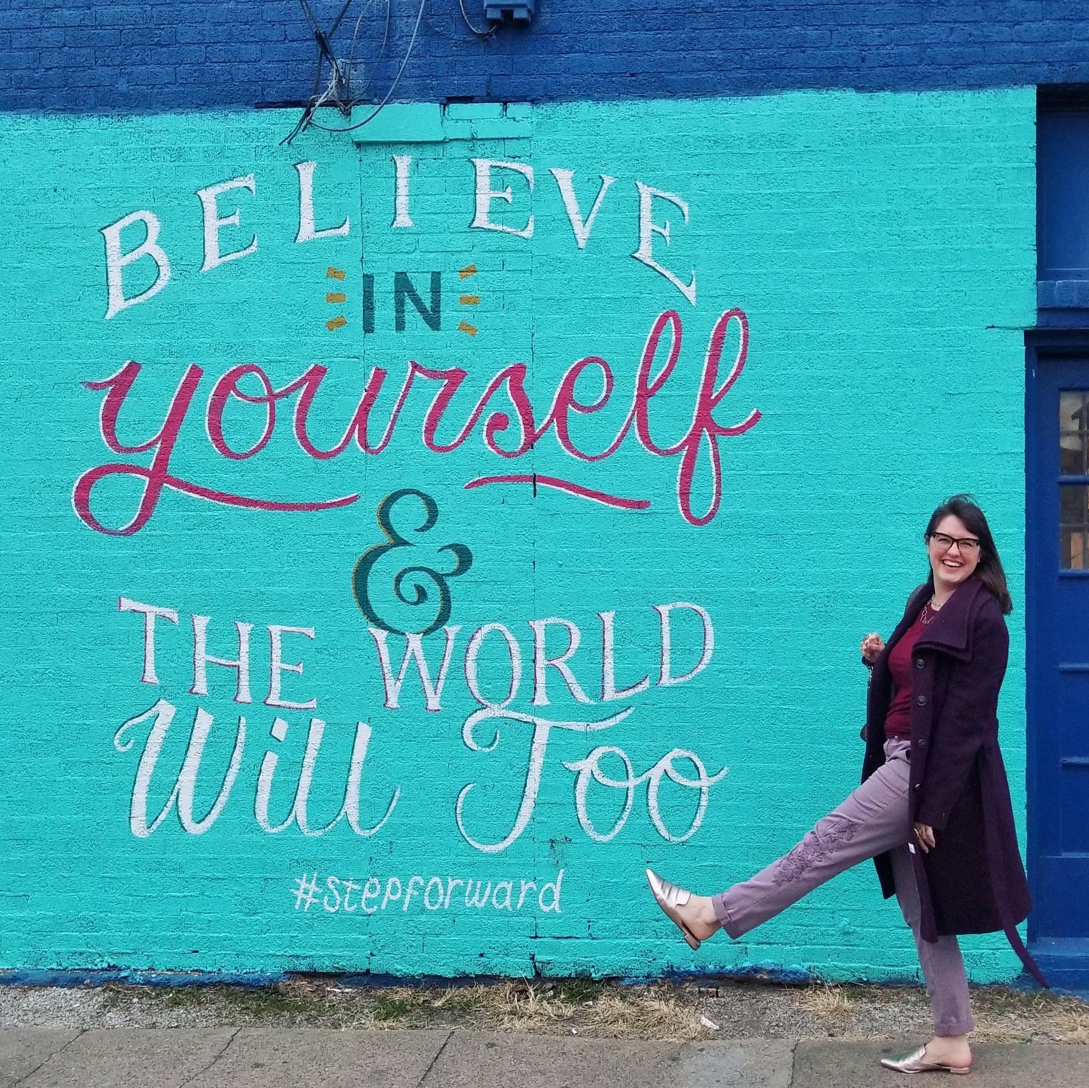 Megan at Street Art in Dallas Texas
