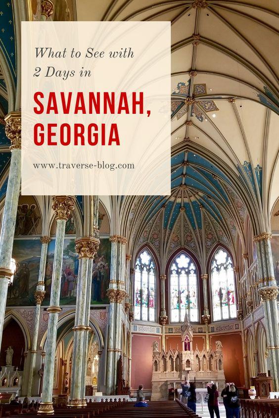 savannah georgia 2 day itinerary pinterest image
