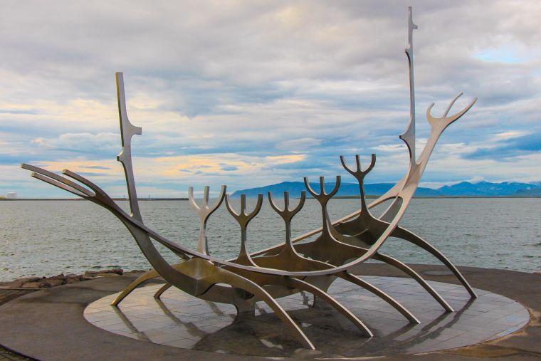 Reykavik Iceland Metal Viking Statue