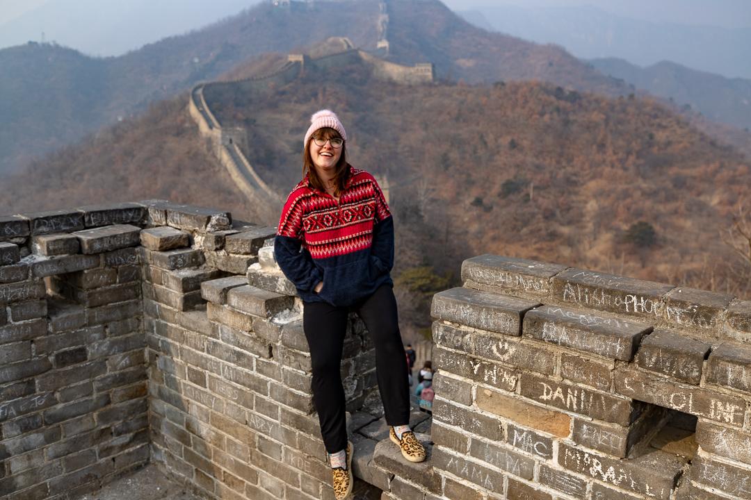 Woman at Great Wall of China Beijing