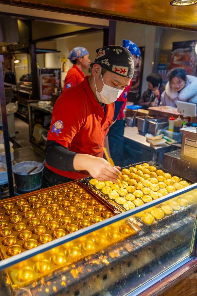 Takoyaki Fried Octopus Osaka Japan