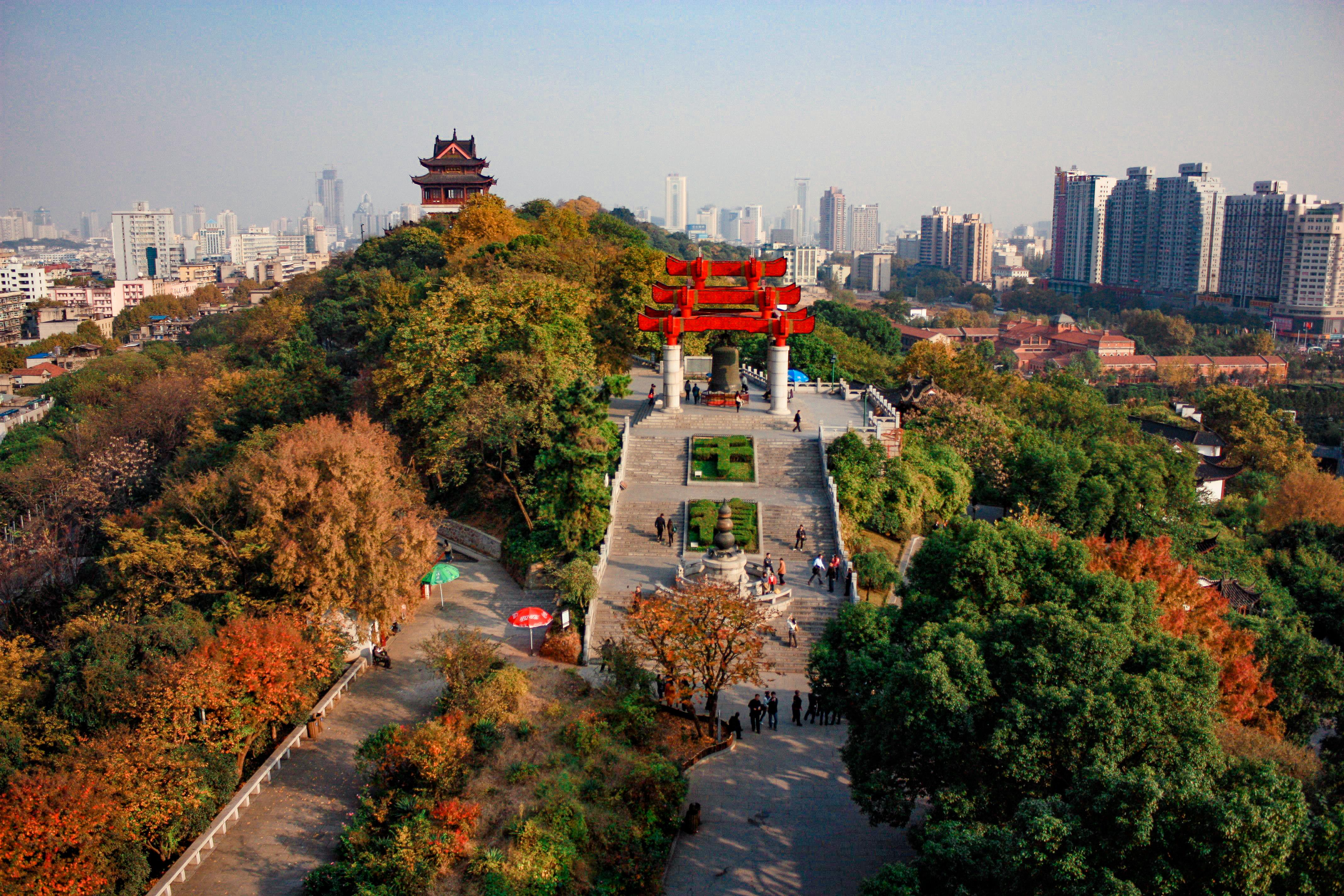Yellow Crane Template View Wuhan China