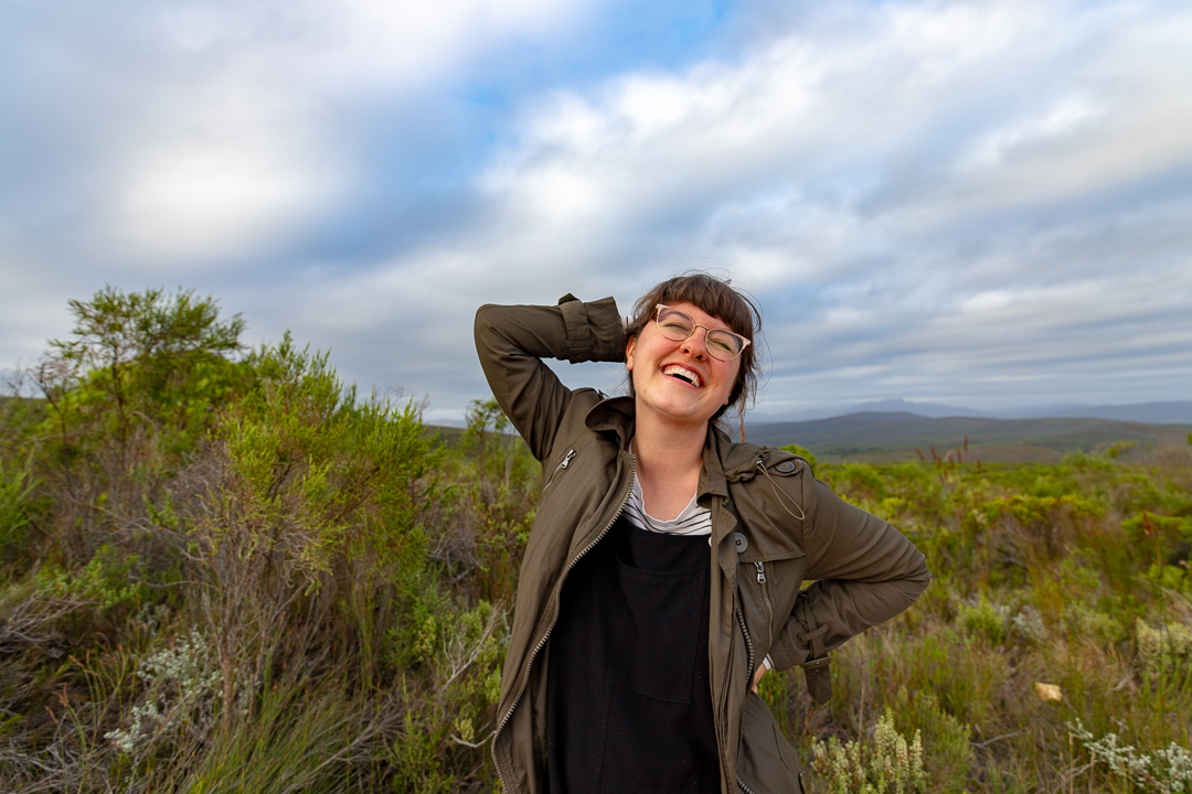 Megan in the Fynbos South Africa