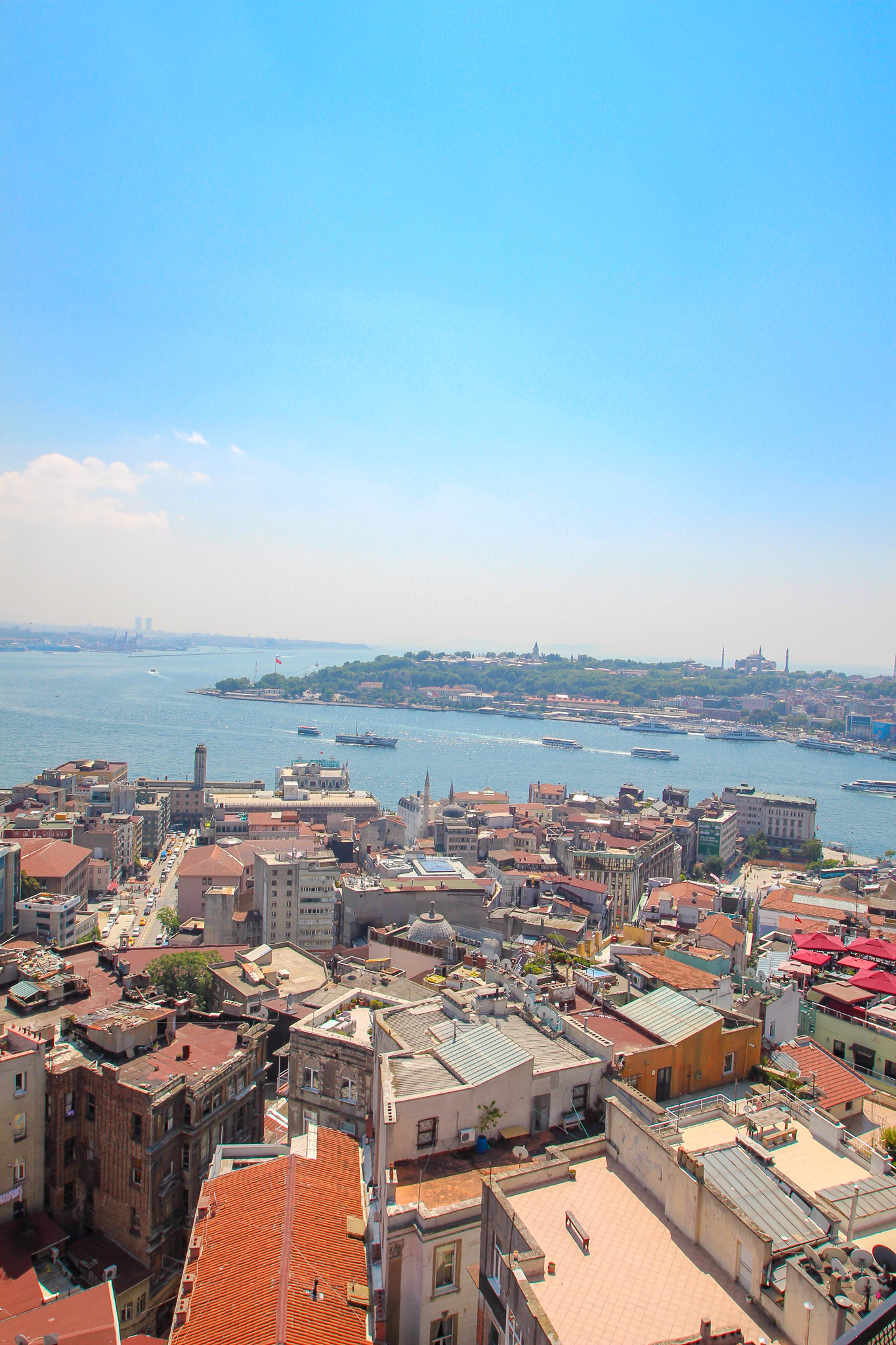 View from Galata Tower Istanbul Turkey
