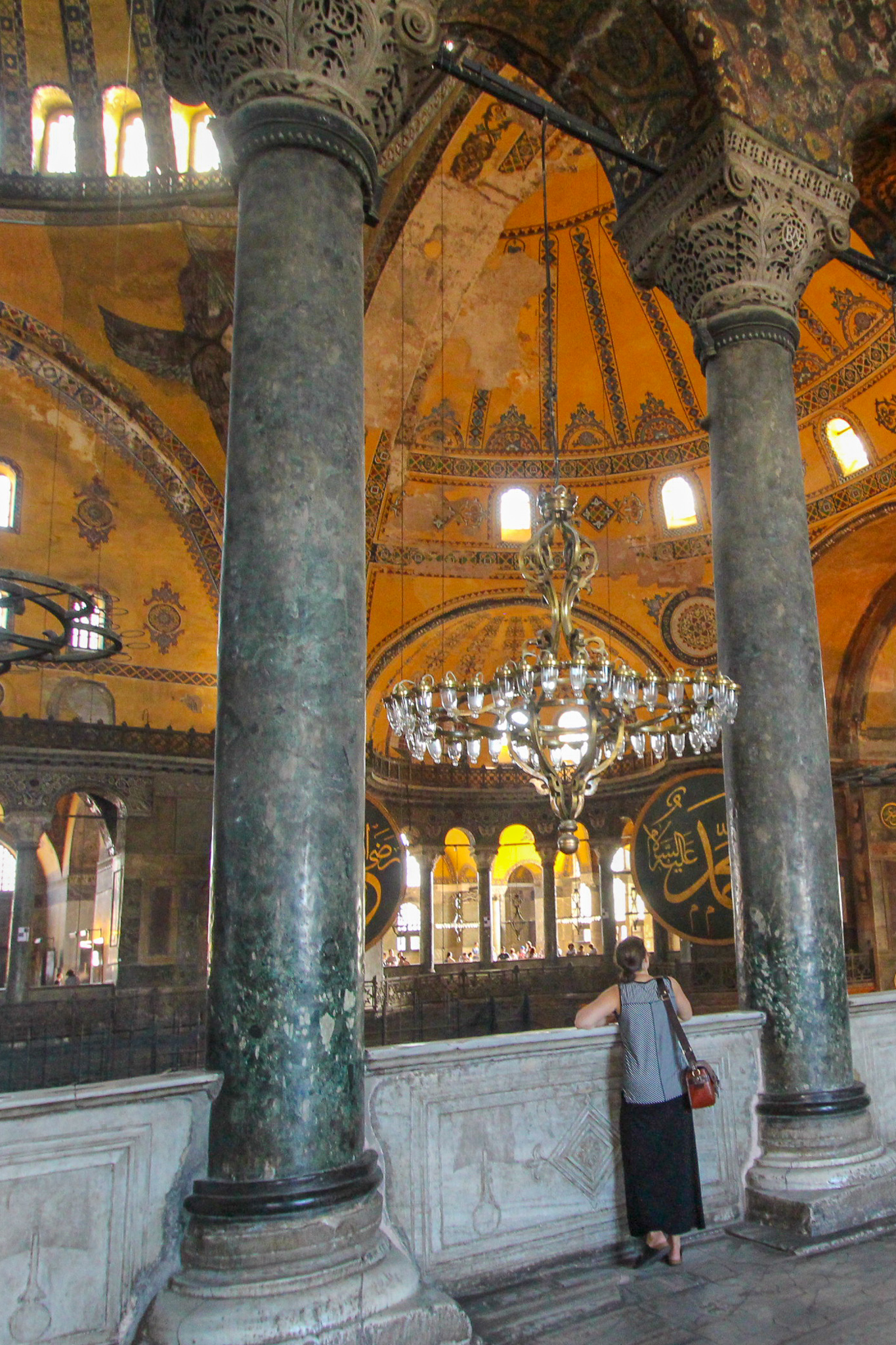 Inside Hagia Sofia Mosque Istanbul Turkey
