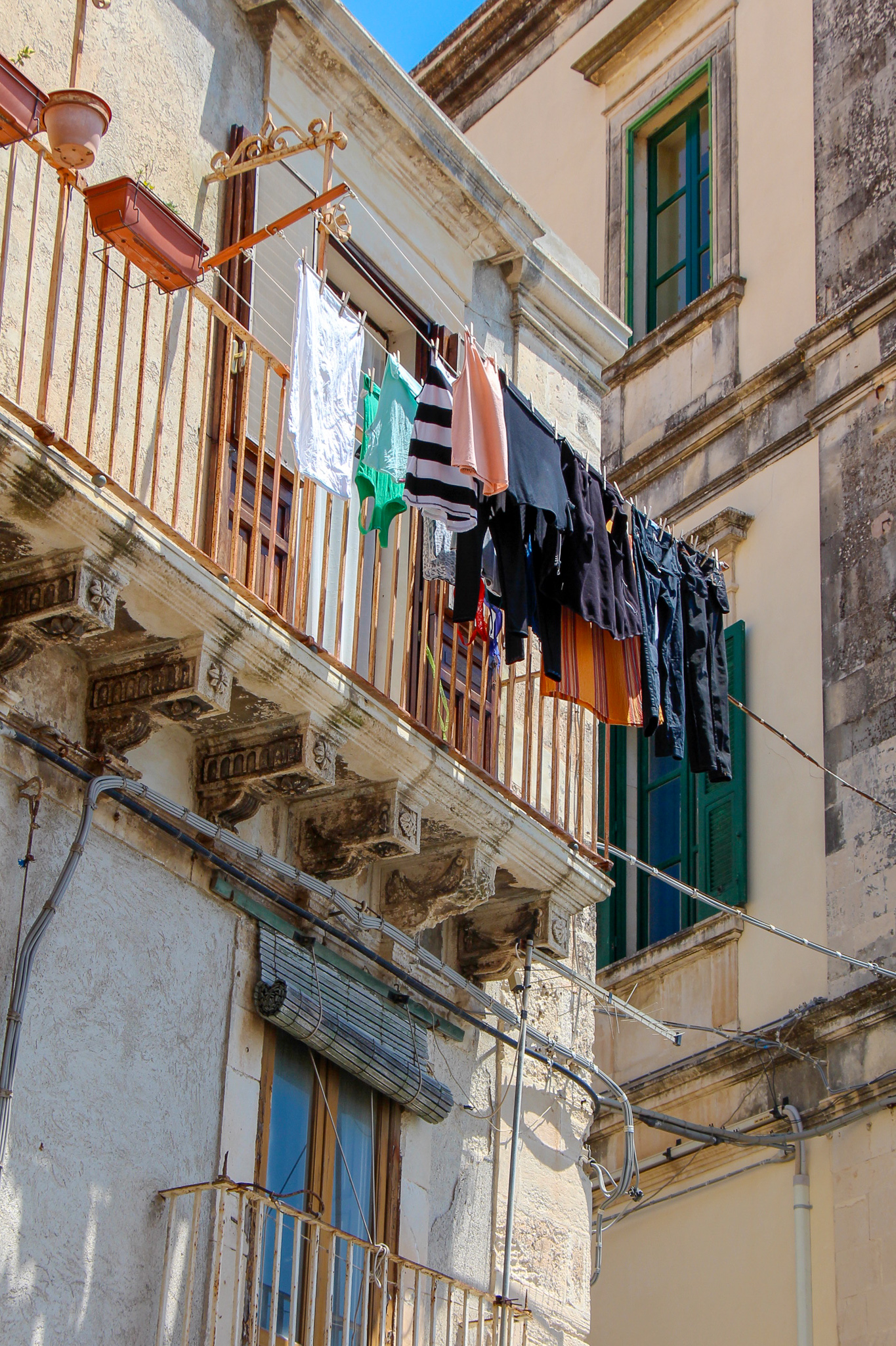 Clothes on Line Sicily Italy