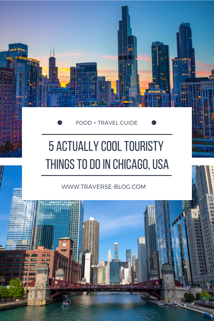 Actually Cool Chicago Touristy Activities Pinterest Image