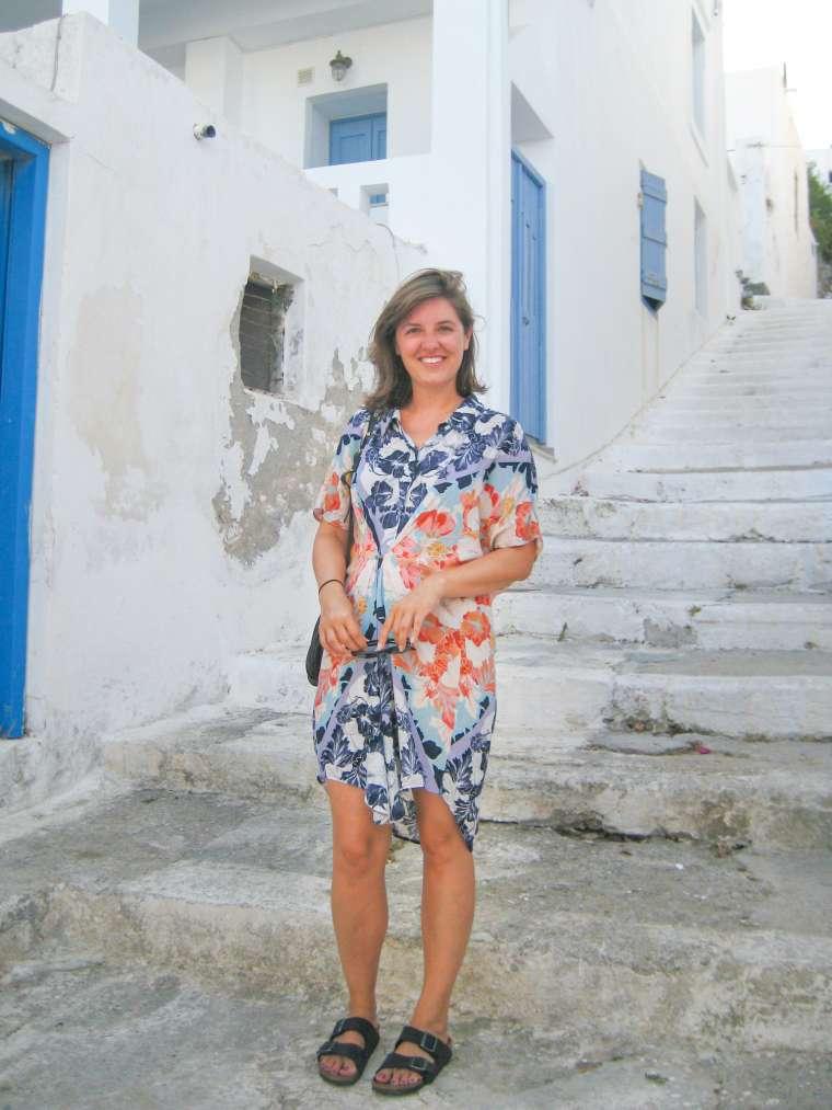 Young Woman in Astypalea Greece Island
