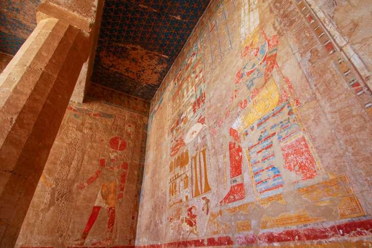 Hatshesptu Temple Hieroglyphics Luxor Egypt