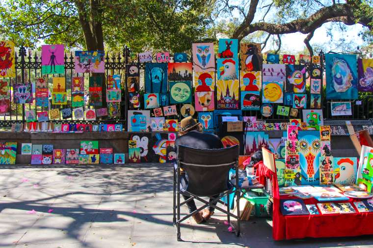 Jackson Square Art NOLA new orleans