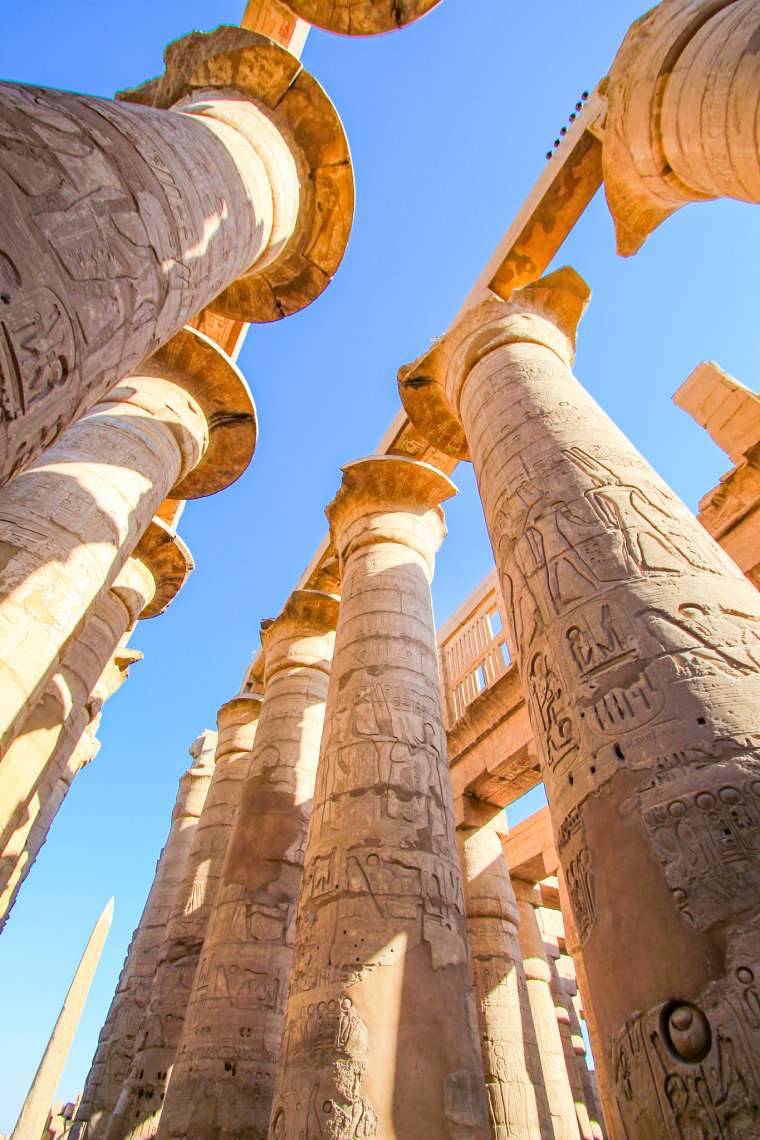 Columns at Karnak Temple Luxor Egypt