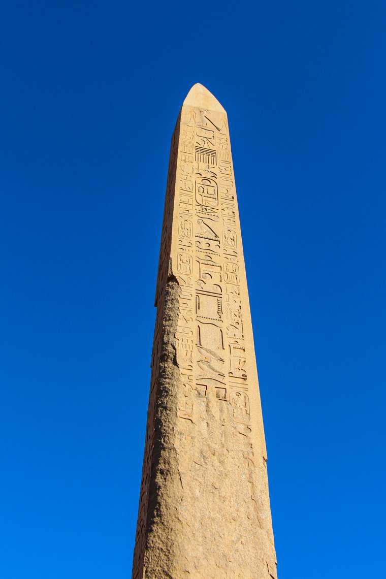 Obelisk at Karnak Temple Luxor Egypt