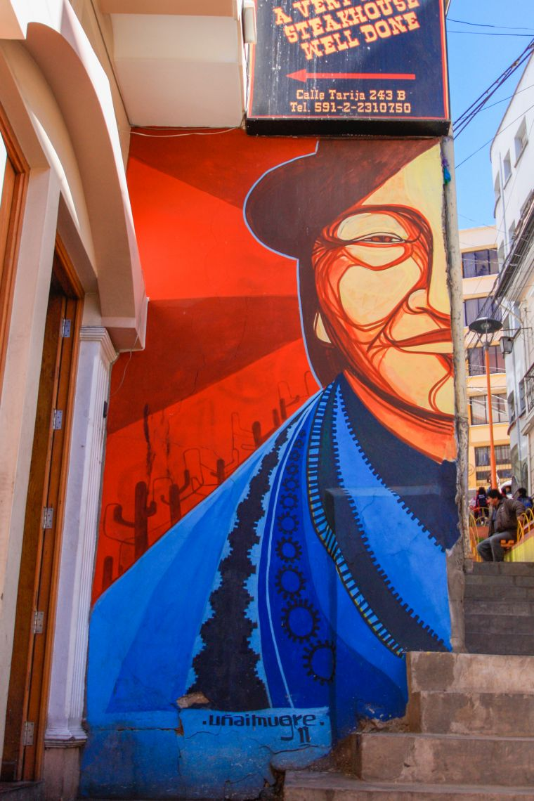 La Paz Bolivia Street Art Scenery