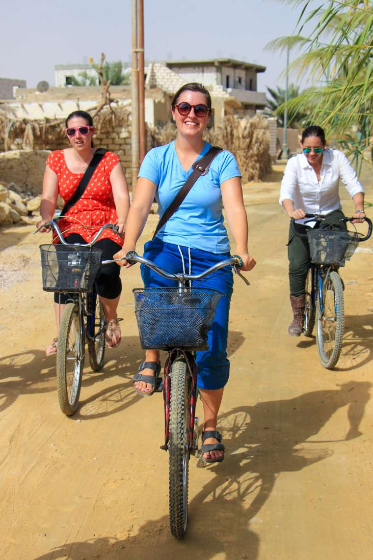 Bicycling in Siwa Oasis Western Egypt