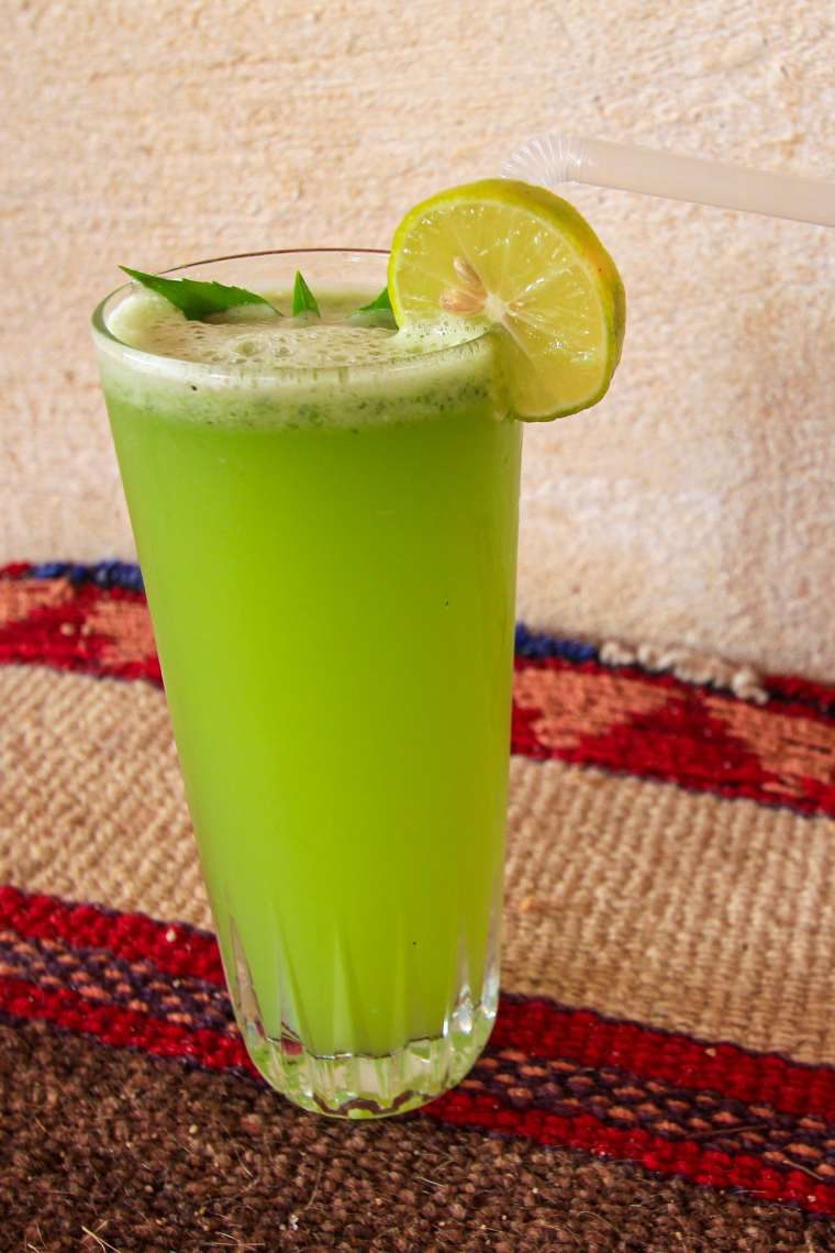 Green Juice in Siwa Oasis Western Egypt