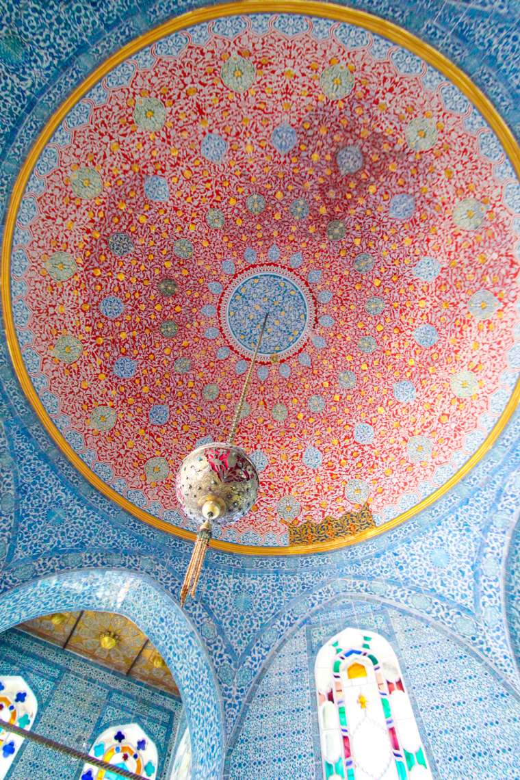 Colorful Ceiling Tile at Topkapi Palace Istanbul Turkey