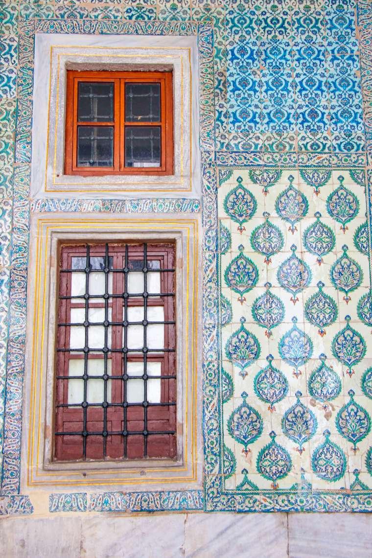 Colorful Tile at Topkapi Palace Istanbul Turkey