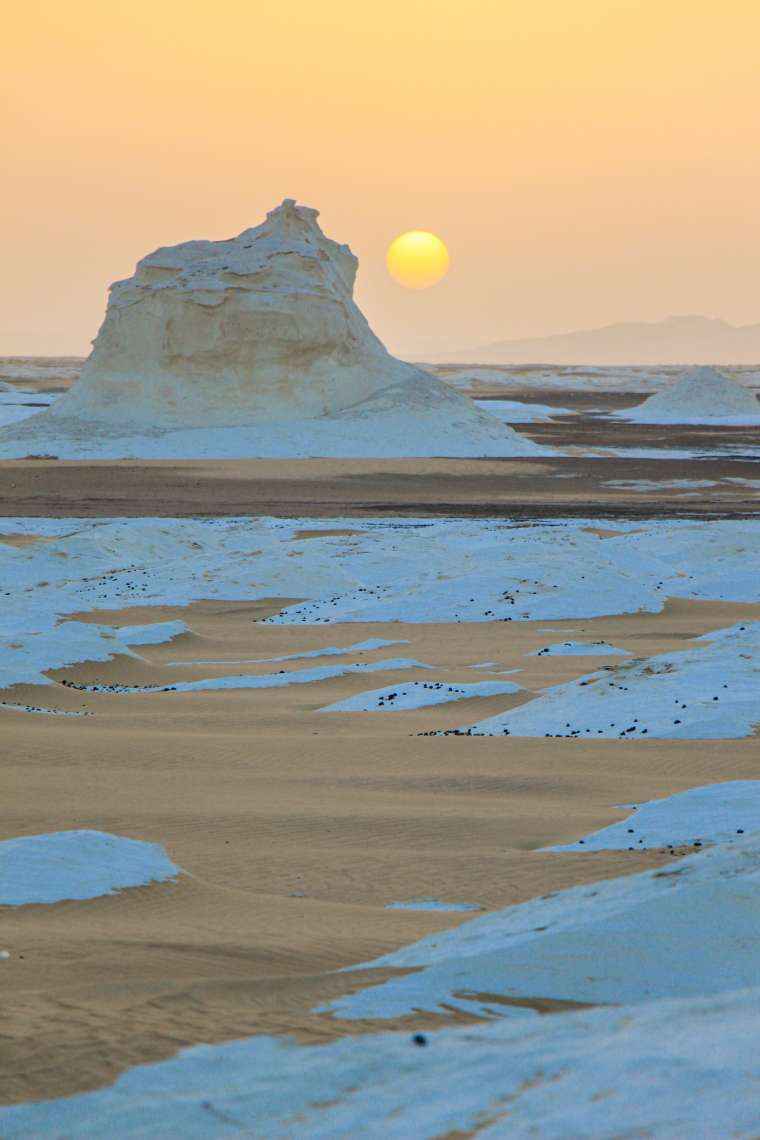 Natural Scenery of White Desert Western Egypt