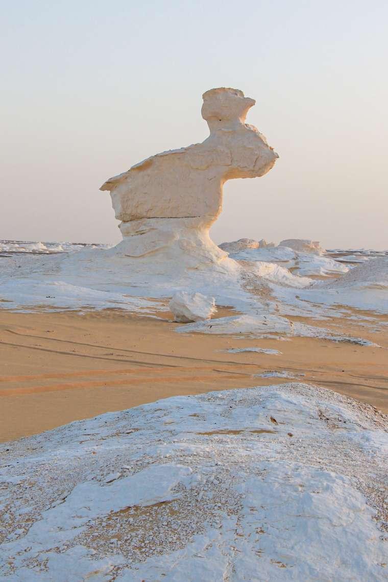 Natural Scenery of White Desert Western Egypt