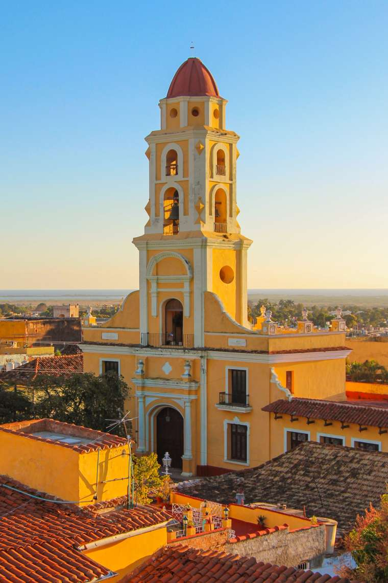 Bell Tower at Sunset in Trinidad Cuba