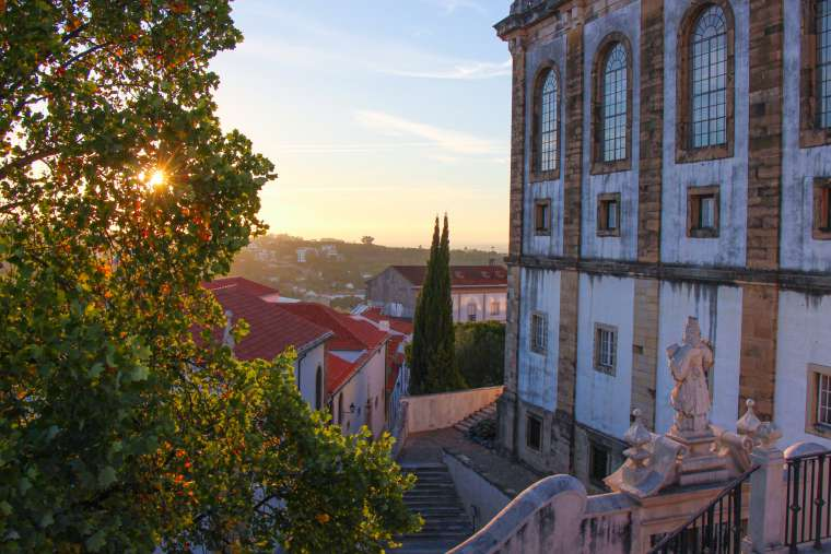 Coimbra Portugal at Sunset