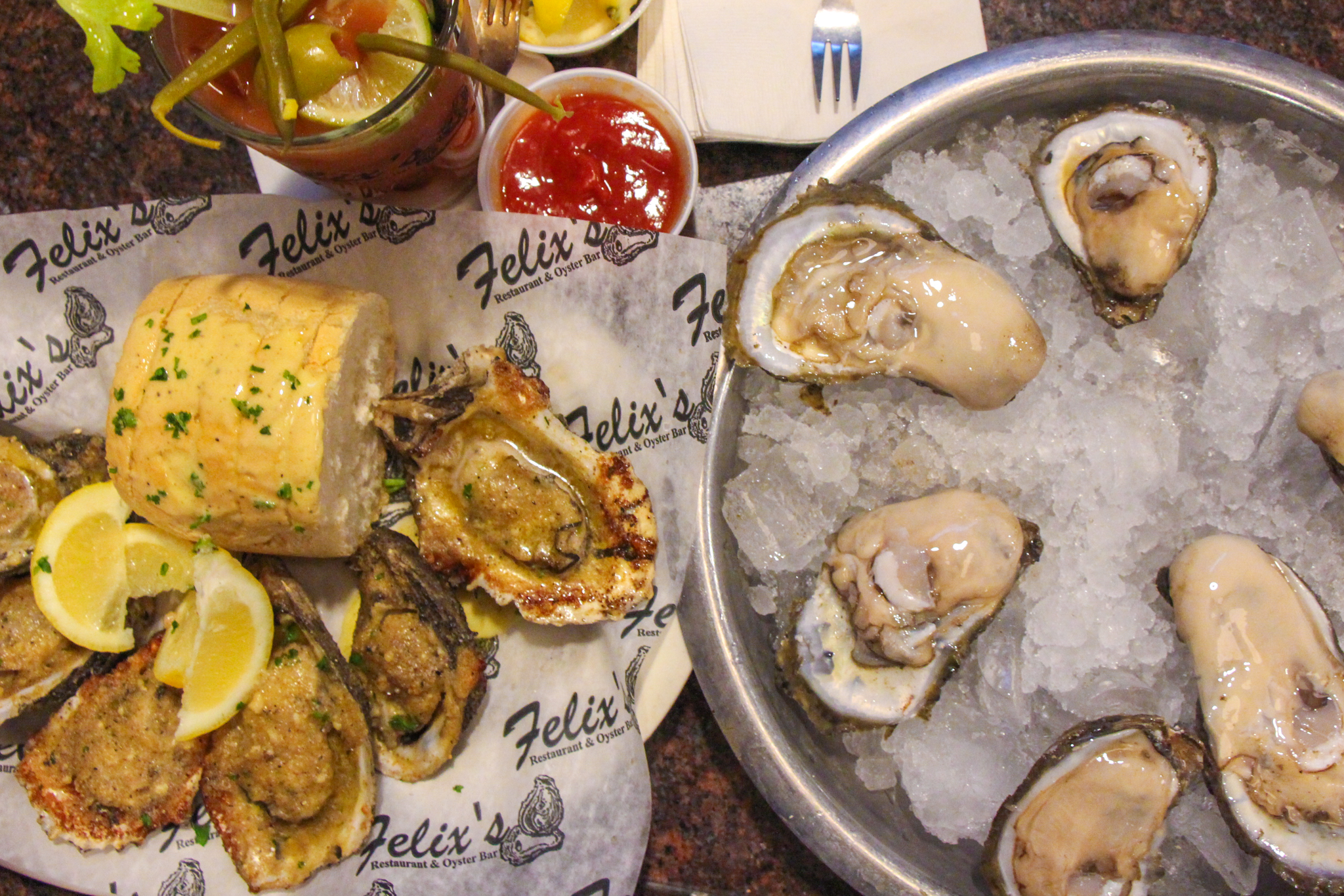 Oysters at Felixs Oysters Bar NOLA new orleans