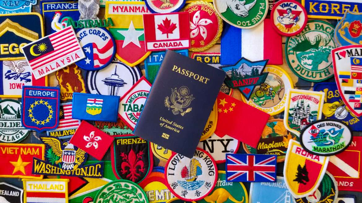 Passport with Patches Souvenirs