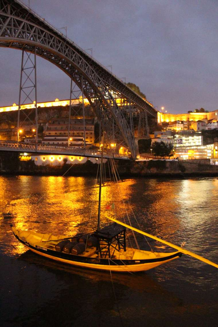 Porto Portugal Waterfront at Night 2