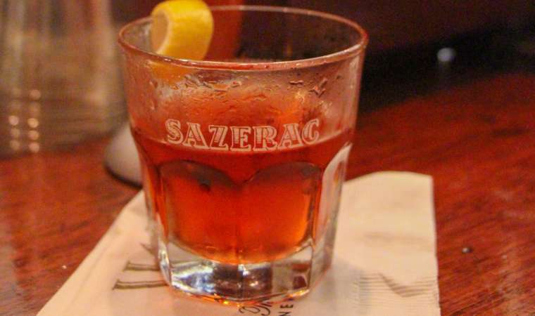 Sazarac Cocktail at Sazarac Bar NOLA new orleans