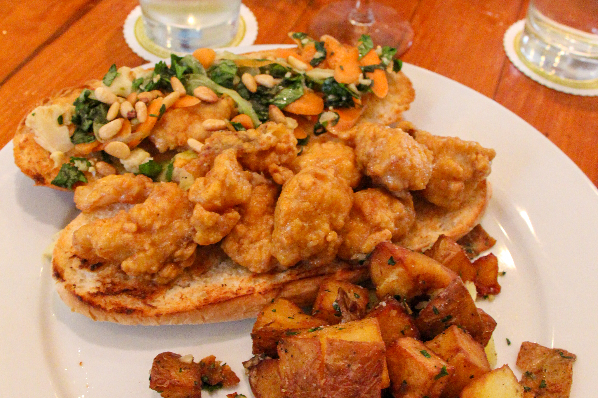 Seafood Po'Boy at Atchafalaya Restaurant NOLA