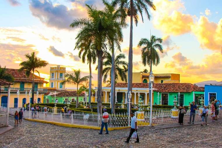 Sunset in Trinidad Cuba