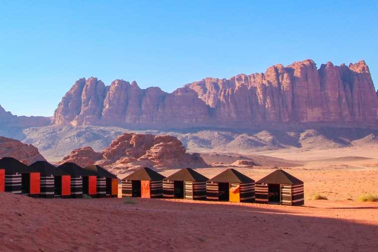 Wadi Rum Desert Scenery at Sunset Jordan