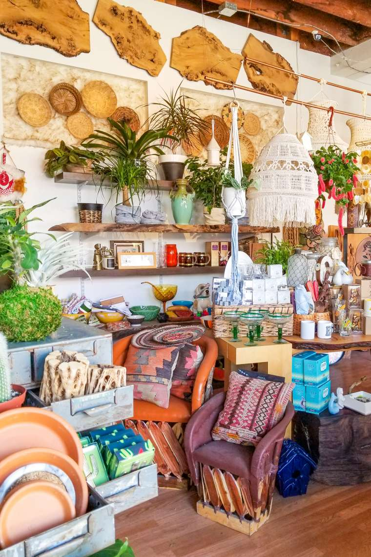 Boutique Shops in Little Italy Neighborhood San Diego California