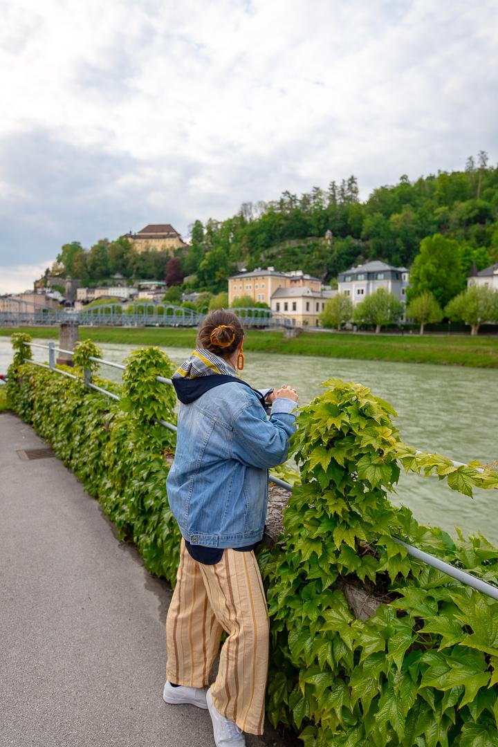 Megan with Skyline Salzburg Austria