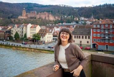Megan on Old Heidelberg Bridge Germany