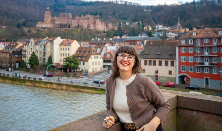 Megan on Old Heidelberg Bridge Germany