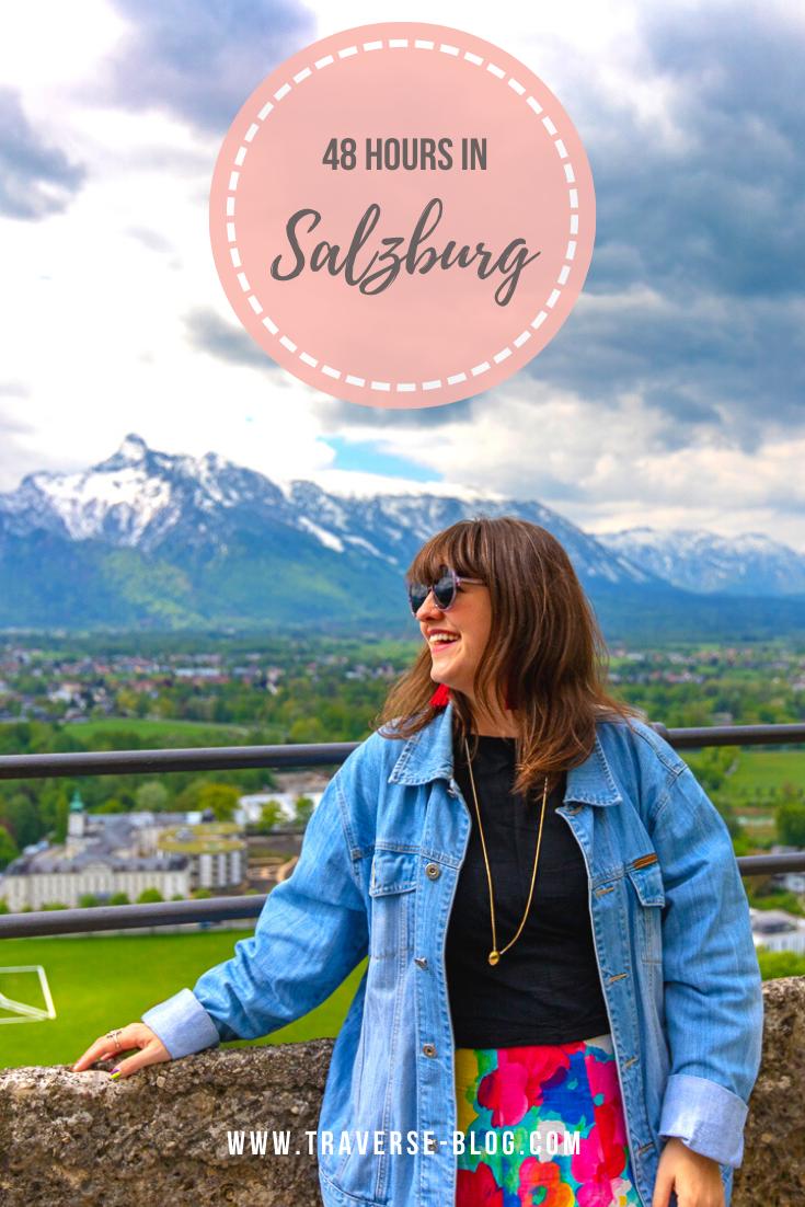 Salzburg Austria 48 Hour Itinerary Pinterest Image