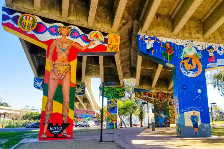 Street Art in Barrio Logan San Diego California