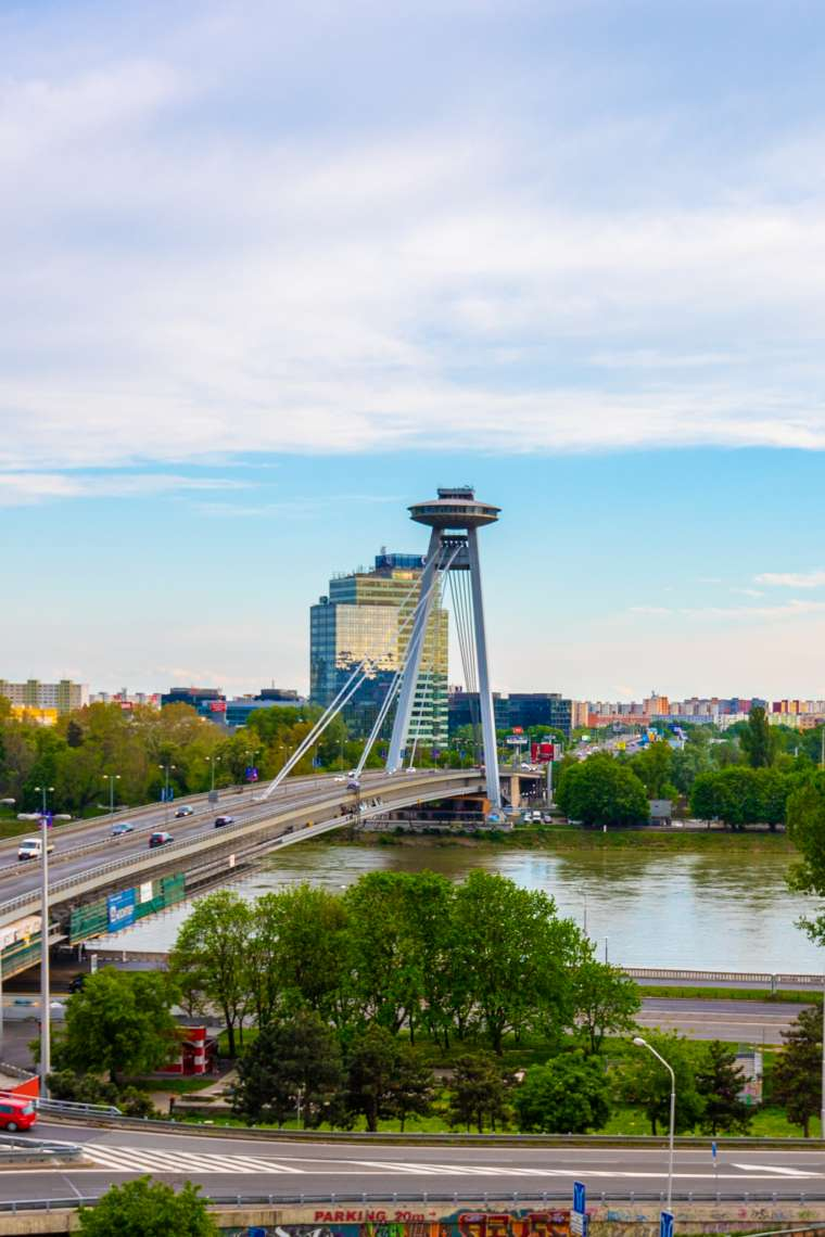 UFO Bridge and Restaurant Bratislava Slovakia